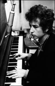 Bob recording at the piano.